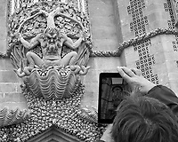 Picture in Picture of the Triton over the Pena Castle Entry. Image taken with a Fuji X-T3 camera and 35 mm f/1.4 lens.