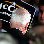 Republican Presidential candidate John McCain speaks to voters during a campaign stop in Orlando,Florida..He spoke briefly on his thoughts and political platform.