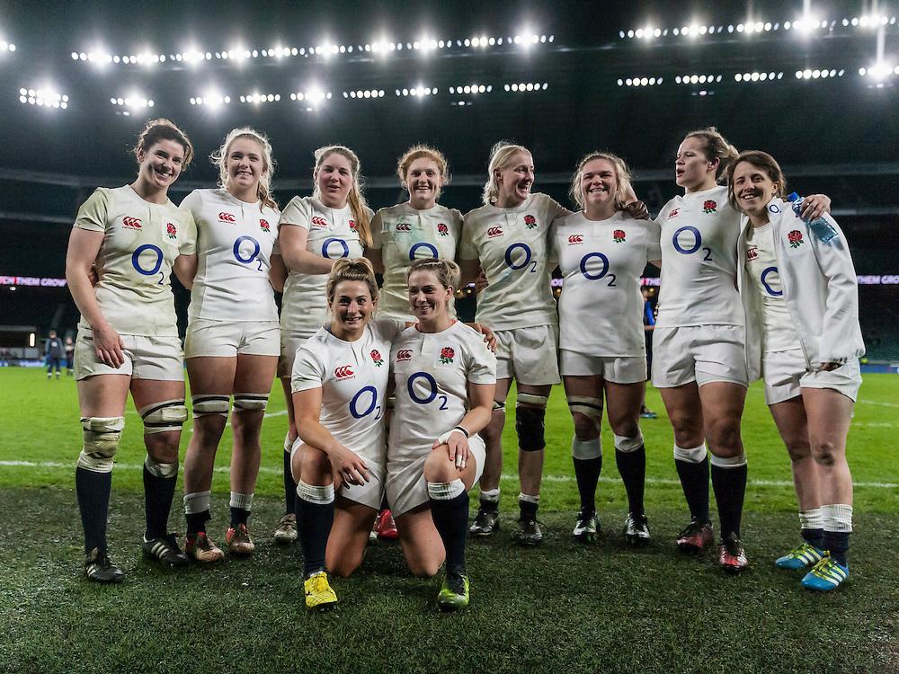 England Women v France Women in a 6 Nations match at Twickenham Stadium, London, England, on 4th February 2017 Final Score 26-13.