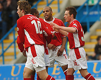 GILLINGHAM VS NOTTINGHAM FOREST<br />6TH MARCH 2004<br />FOREST'S NICK BARMBY CELEBRATES THE OPENING GOAL<br />Picture Ady Kerry