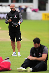 Somerset Directory of Cricket Matt Maynard and Jim Allenby look on.  - Mandatory by-line: Alex Davidson/JMP - 15/07/2016 - CRICKET - Cooper Associates County Ground - Taunton, United Kingdom - Somerset v Middlesex - NatWest T20 Blast