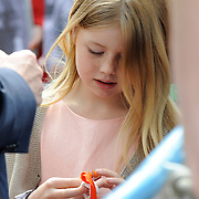 Koningsdag 2014 in Amstelveen, het vieren van de verjaardag van de koning. / Kingsday 2014 in Amstelveen, celebrating the birthday of the King. <br /> <br /> <br /> Op de foto / On the photo: Prinses Amalia