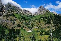 North Cascades Scenic Highway, Rocky Mountains and streams near Washington Pass, Washington