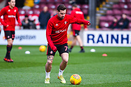 Chris Maguire of Sunderland (7) warming up during the EFL Sky Bet League 1 match between Scunthorpe United and Sunderland at Glanford Park, Scunthorpe, England on 19 January 2019.