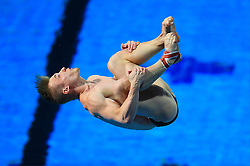 England's Jack Laugher competes in the Men's 1m Springboard Final at the Optus Aquatic Centre during day seven of the 2018 Commonwealth Games in the Gold Coast, Australia.