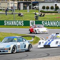 Shaun Walker (Porsche 930S) leads Peter McKenzie (Ultra Sports) and Walter Epple (Porsche 911 Carrera RS) at the WA Sporting Car Clubs 2005 WA State Championship meeting.
