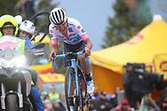 Arrival Richard Carapaz (ECU - Movistar) during the 101th Tour of Italy, Giro d'Italia 2018, stage 14, San Vito Al Tagliamento - Monte Zoncolan 181 km on May 19, 2018 in Italy - Photo Ilario Biondi / BettiniPhoto / ProSportsImages / DPPI
