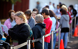 Several hundred people line up at a free community clinic to receive H1N1 flu vaccinations at Touro University on Mare Island.  The event, conducted collaboration with Solano County Public Health Department, administered the vaccine to  individuals in the CDC high priority groups.