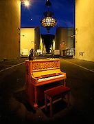 Casablanca Piano and lamp from Rick's Place and the Maltese Falcon on the Warner Brothers Backlot.  All worth in the million dollar range.