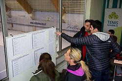 Rezultati na drzavnem prvenstvu veteranskih dvojic v tenisu, 24. marec 2018, BTC Millenium center, Ljubljana, Slovenia. Photo by Vid Ponikvar / Sportida