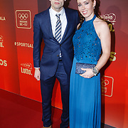 NLD/Amsterdam/20151215 - NOC / NSF Sportgala 2015, Antoinette de Jong en partner