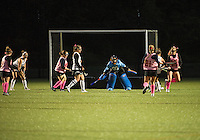 St Paul's School girls varsity Field Hockey versus New Hampton.  ©2016 Karen Bobotas Photographer