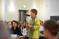 DEU, Deutschland, Germany, Berlin, 10.12.2016: Bundestagsvizepräsidentin Petra Pau beim Landesparteitag von Die Linke im WISTA-Veranstaltungszentrum Adlershof.