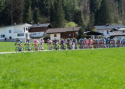 22.04.2019, Kufstein, AUT, Tour of the Alps, 1. Etappe, Kufstein - Kufstein, 144km, im Bild // the Peloton during the 1st Stage of the Tour of the Alps Cyling Race from Kufstein to Kufstein (144km) in in Kufstein, Austria on 2019/04/22. EXPA Pictures © 2019, PhotoCredit: EXPA/ Reinhard Eisenbauer