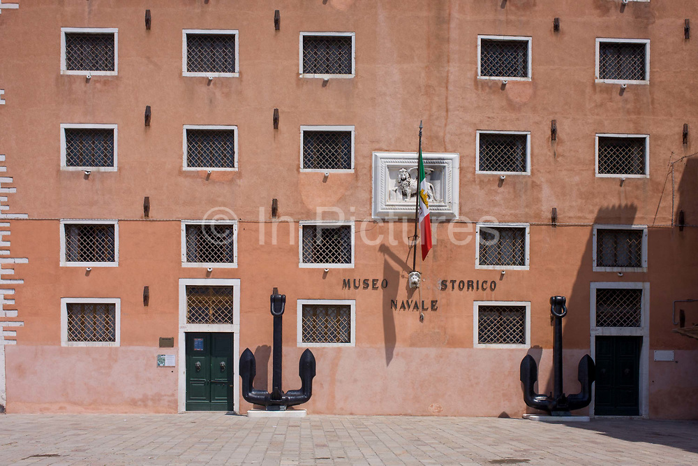 The Museo Storico Navale, a naval history museum in the Castello district of Venice, near the Venetian Arsenal. The museum was established by the Regia Marina in 1919. The Museo Storico Navale is one of Venice's less-visited museums, and is open only in the mornings. Situated in the Castello district, near the Arsenale, Venice's historic shipyard, it is devoted to naval and nautical history, with exhibits covering five floors of the building.