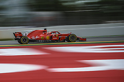 May 13, 2018 - Barcelona, Catalonia, Spain - SEBASTIAN VETTEL (GER) drives during the Spanish GP at Circuit de Barcelona - Catalunya in his Ferrari SF-71H (Credit Image: © Matthias Oesterle via ZUMA Wire)