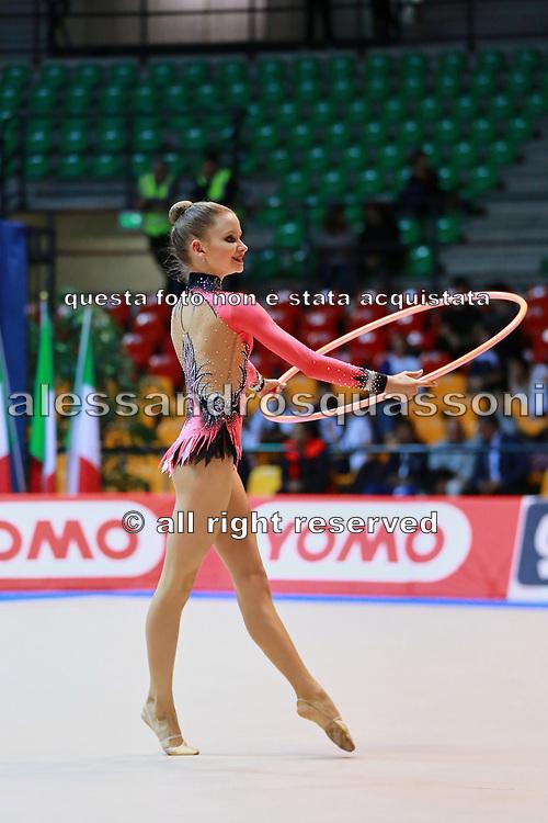 Natalia Pozharova atleta della società Etruria di Prato durante la seconda prova del Campionato Italiano di Ginnastica Ritmica.<br /> La gara si è svolta a Desio il 31 ottobre 2015.