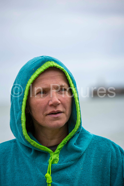 Award winning actress and Folkestone resident Jessica Hynes completed a 4 mile sea swim with 12 laps of Folkestone sunny sands bay to raise money for charity on the 7th of July 2020 in Folkestone, United Kingdom. She swam for two different charities, one being the Folkestone community hub, which has been supporting vulnerable people during the Covid-19 lockdown and the second called Green Kordofan which supports children in a refugee camp in Yida, South Sudan. Mrs Hynes is one of many volunteers who have worked at the hub, which provides help by delivering groceries, collecting prescriptions or just being a voice on the end of the phone.The second charity is Green Kordofan, which supports children in a refugee camp in Yida, South Sudan and was founded by Raga Gibreel, also from Folkestone.The registered charity is currently raising money for essential hygiene facilities such as washing and toilet blocks, to make the camp safe for the children who have been displaced by war.