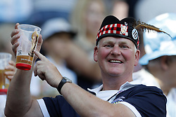 Scottish fan wit Budweiser World Cup beer during the 2018 FIFA World Cup Russia group D match between Argentina and Iceland at the Spartak Stadium on June 16, 2018 in Moscow, Russia.