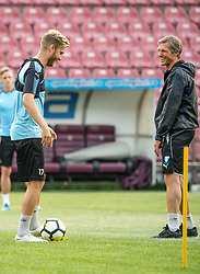 July 23, 2018 - Cluj, Romania - i180723 Rasmus Bengtsson and assistant coach trÅnare Jens FjellstrÅ¡m of MalmÅ¡ FF during a practice ahead the UEFA Champions League qualifying match between Cluj and MalmÅ¡ FF on July 23, 2018 in Cluj..Photo: Ludvig Thunman / BILDBYRN / kod LT / 35508 (Credit Image: © Ludvig Thunman/Bildbyran via ZUMA Press)