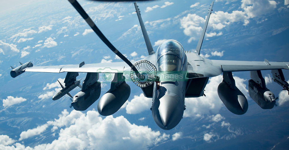 ANCHORAGE, Alaska (May 12, 2017) An EA-18G Growler conducts air-to-air refueling during exercise Northern Edge 17 at Joint Base Elmendorf-Richardson, Alaska. Northern Edge 17 is Alaska's premier joint-training exercise and is conducted to strengthen the interoperability between various aircraft from all services. (U.S. Marine Corps photo by Lance Cpl. Jacob A. Farbo/Released) 170512-M-HD015-0034<br /> Join the conversation:<br /> http://www.navy.mil/viewGallery.asp<br /> http://www.facebook.com/USNavy<br /> http://www.twitter.com/USNavy<br /> http://navylive.dodlive.mil<br /> http://pinterest.com<br /> https://plus.google.com