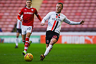 Chris Solly of Charlton Athletic (20) stretches for the ball during the EFL Sky Bet League 1 match between Barnsley and Charlton Athletic at Oakwell, Barnsley, England on 29 December 2018.