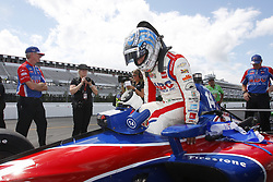 August 18, 2018 - Long Pond, Pennsylvania, United Stated - TONY KANAAN (14) of Brazil take to the track for the ABC Supply 500 at Pocono Raceway in Long Pond, Pennsylvania. (Credit Image: © Chris Owens Asp Inc/ASP via ZUMA Wire)