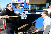 """l to r: Randy Spears and Drew Applebaum at Shred Your Ex and Shred Chris Brown CDs and Posters for Pre-Valentines Day Bash held at WBLI Studios in West Babylon, Long Island on February 13, 2009..""""Shred Your Ex"""" party the day before Valentines Day. Radio Station WBLI has invited members of Rihanna's Fan Club and other fans across the nation to join the pop star's side along with .others who are """"unlucky in love.""""."""