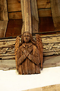 Church of All Saints, Great Glemham, Suffolk, England, UK carved wooden angel roof beam
