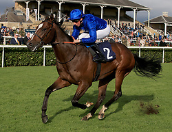 Al Hajar ridden by William Buick wins the Scott Dobson Memorial Nursery Handicap Stakes during Racing Post Trophy day at Doncaster Racecourse.