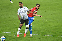 Football - 2020 / 2021 Sly Bet Championship - Swansea City vs Queens Park Rangers - Liberty Stadium<br /> <br /> Robert Dickie of QPR defends  &  Wayne Routledge of Swansea City<br /> <br /> COLORSPORT/WINSTON BYNORTH