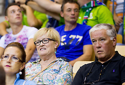 Mother and father of Jaka Lakovic of Slovenia during basketball match between National teams of Slovenia and Spain in Round 1 at Day 2 of Eurobasket 2013 on September 5, 2013 in Arena Zlatorog, Celje, Slovenia. (Photo by Vid Ponikvar / Sportida.com)