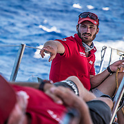 Leg 4, Melbourne to Hong Kong, day 15 on board MAPFRE, Louis Sinclair. Photo by Ugo Fonolla/Volvo Ocean Race. 16 January, 2018.