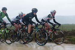 Tiffany Cromwell on the front at Strade Bianche - Elite Women 2018 - a 136 km road race on March 3, 2018, starting and finishing in Siena, Italy. (Photo by Sean Robinson/Velofocus.com)