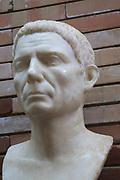 Bust of man, Museo Nacional de Arte Romano, national museum of Roman art, Merida, Extremadura, Spain 1st century AD