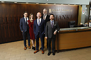 SHOT 1/8/19 12:13:29 PM - Bachus & Schanker LLC lawyers James Olsen, Maaren Johnson, J. Kyle Bachus, Darin Schanker and Andrew Quisenberry in their downtown Denver, Co. offices. The law firm specializes in car accidents, personal injury cases, consumer rights, class action suits and much more. (Photo by Marc Piscotty / © 2018)