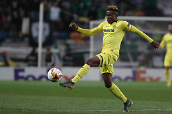 February 14, 2019 - Lisbon, Portugal - Villarreal's forward Samuel Chukwueze in action during the UEFA Europa League Round of 32 First Leg football match Sporting CP vs Villarreal CF at Alvalade stadium in Lisbon, Portugal on February 14, 2019. (Credit Image: © Pedro Fiuza/NurPhoto via ZUMA Press)