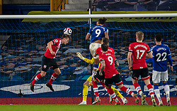 LIVERPOOL, ENGLAND - Monday, March 1, 2021: Southampton's James Ward-Prowse heads the ball off the line during the FA Premier League match between Everton FC and Southampton FC at Goodison Park. Everton won 1-0. (Pic by David Rawcliffe/Propaganda)