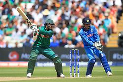 Bangladesh's Shakib Al Hasan is caught by India's MS Dhoni during the ICC Champions Trophy, semi-final match at Edgbaston, Birmingham.