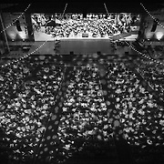 """The World Youth Symphony Orchestra performs during """"Collage"""" at Kresge Auditorium at Interlochen Center for the Arts in Interlochen, Michigan. """"Collage,"""" is one of Interlochen's most popular annual Camp events, showcasing a sample of student performances encompassing music, dance, theatre, creative writing, motion picture arts, and visual arts."""