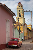 Beautiful World Heritage San Francisco Convent in Trinidad, Cuba.