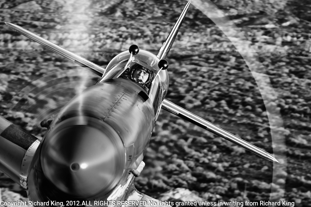 "Spectacular black and white photographic image of a P-51 Mustang ""Cripes A' Mighty"" up really close, taken air to air over the Arizona desert"