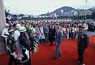 President Jim Carter arrives at the  Caracas, Venezuela airport on March 28, 1978<br /> Photo by Dennis Brack