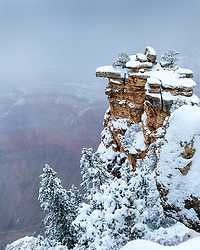 New snow at the Grand Canyon. The Grand Canyon is stunning anytime but especially so under a frosting of snow