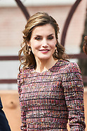 032117 Queen Letizia attends a Working meeting at Royal Board on Disability