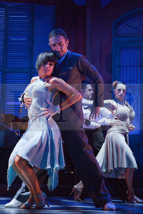 """© Licensed to London News Pictures. 30/01/2012. London, England. """"Midnight Tango"""" with """"Strictly Come Dancing"""" Stars Flavia Cacace and Vincent Simone opens at the Aldwych Theatre, London. Photo credit: Bettina Strenske/LNP"""