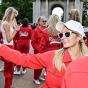 Paris Hilton attend Cash & Rocket Photocall at Wellington Arch, on 6 June 2019, London, UK