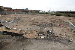 Building site in inner city; Basford; Nottingham,