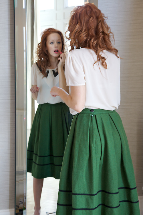 Actress Lindy Booth in London