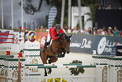 Estermann Paul (SUI) - Castlefield Eclipse<br /> Team consolation competition<br /> Furusiyya FEI Nations Cup Jumping Final<br /> CSIO Barcelona 2013<br /> © Dirk Caremans